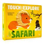 野生动物 触摸书 Touch and Explore Safari 英文原版绘本 精装触摸翻翻书 儿童动物科普百科 亲