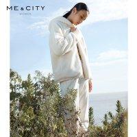 【1件3折价:134.7,可叠券】MECITY女装冬季时尚宽松休闲ins潮保暖羊羔绒外套女