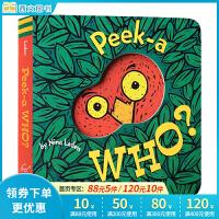 Peek-A-Who? 猜猜我是谁 美国受家长和宝宝欢迎的幼儿玩具书 儿童英文原版绘本 纸板书 宝宝的躲猫猫视觉游戏书