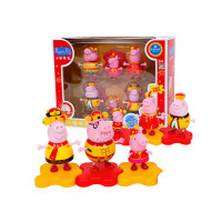 儿童玩具粉红猪小妹中国风全家福新年礼盒6只装 中国风全家福