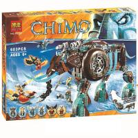 �和��夤�髌�Chima三代��虎寒�{冰烈焰�w天神殿拼�b拼插�e木玩具送孩子�Y物拼插玩具