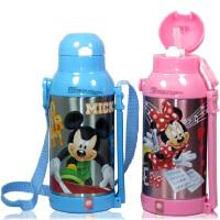 Disney 迪士尼 保温壶 隐形背带儿童水杯 软吸管保温杯防漏650ml 多色可选!