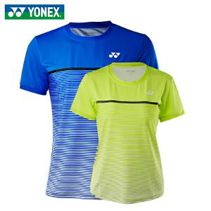 2018新款尤尼克斯(YONEX)羽毛球服男 女 羽毛球运动服装短袖T恤110108/210318吸汗速干