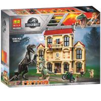 儿童兼容乐高积木玩具拼装霸王龙大逃脱侏罗纪恐龙积木