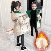 2019冬季新款韩版儿童中长款加绒加厚风衣女童秋冬装外套