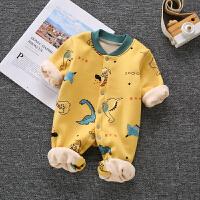 婴儿保暖连体衣男女宝宝长袖哈衣爬爬服新生婴儿衣服秋冬