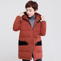 中老年女冬装棉衣40岁50妈妈羽绒中长款外套冬季加厚新款上衣