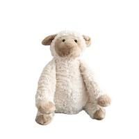 北欧ins奶茶色小绵羊摩卡羊公仔玩偶毛绒玩具呆萌生日礼物 摩卡卷毛羊 其它大小