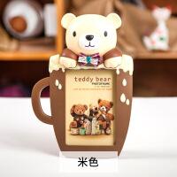 创意卡通杯子熊大6寸摆台相框 儿童宝宝相框 摆台摆件挂墙两用 大6寸