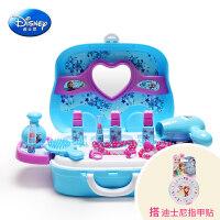 儿童化妆品小女童化妆盒公主彩妆盒口红套装女孩玩具 (搭指甲贴)
