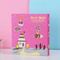 全景过塑儿童相册影集4D大6寸相册本400张宝宝成长插页式家庭相薄
