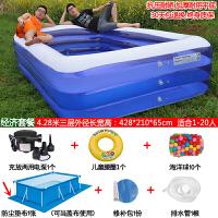婴儿游泳池家用大号儿童充气游泳池加厚婴儿宝宝家用游泳桶大型小孩戏水池