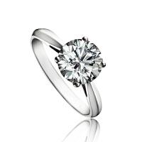 梦克拉 钻戒pt950铂金钻石结婚戒指依恋53分 可礼品卡购买