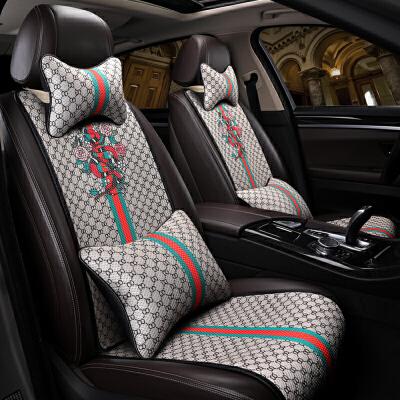 汽车坐垫夏季冰丝免绑车垫子四季通用凉垫汽车座垫四季