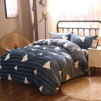 双面绒法兰绒四件套加绒加厚珊瑚绒1.8m床上三件套法莱绒被套床单定制