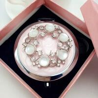 韩国随身携带化妆镜折叠迷你小镜子美容院礼品圆环双面圆形公主镜