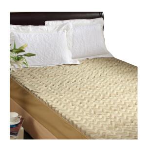 [当当自营]富安娜床垫床笠款保暖保护垫 立体水波纹保暖床垫 驼色 150*200