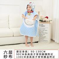 婴儿儿童浴巾斗篷纱布吸水带帽卡通超柔软被子宝宝浴袍新生儿定制