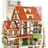 diy小屋3d立体拼图模型世界风情儿童创意益智玩具中国风
