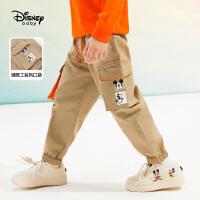 【4折券后价:77.6元】迪士尼男童梭织工装长裤2021春装洋气儿童宝宝帅气潮童装裤子