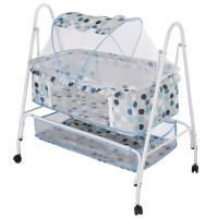 舒贝乐婴儿床摇篮床儿布艺床带蚊帐滚轮置物袋可推行