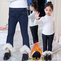 2018新款冬装女童牛仔裤加绒加厚洋气冬款小脚裤儿童女宝宝长裤子