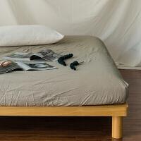 裸睡良品水洗棉单件床单/床笠纯色1.2/1.5/1.8床单品定制