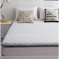 榻榻米床垫1.8m床双人针织床褥折叠垫褥子1.5m米学生宿舍海绵加厚定制 针织白 6CM薄款床垫