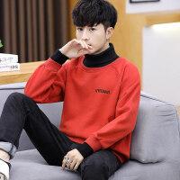 冬季加绒加厚长袖T恤男韩版潮流上衣服潮高领卫衣内搭保暖打底衫 X