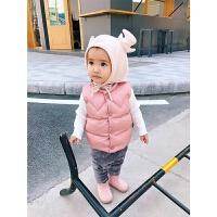 婴儿女宝宝棉马甲加厚秋冬潮1岁儿童小童坎肩保暖外套无袖