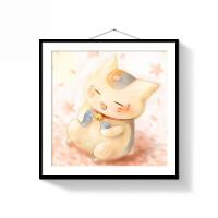 十字绣自己绣猫咪 钻石画5D卡通小幅人物可爱猫咪钻石十字绣满钻石绣卧室小画B