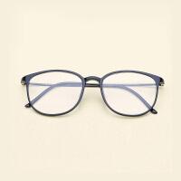 复古大框潮圆框眼镜框钨塑钢钛学生眼镜