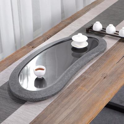 唐丰乌金石茶盘镜面抛光石托盘整块干泡盘家居办公简约茶台 镜面抛光工艺 隐藏式排水