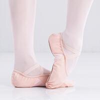 肉色女童猫爪芭蕾舞鞋女宝宝跳舞鞋儿童舞蹈鞋帆布软底练功鞋