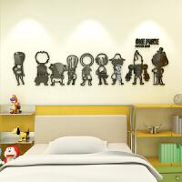 新品卡通漫画海贼王3d立体墙贴儿童房卧室床头装饰贴纸幼儿园墙壁布置