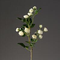 仿真小玫瑰花假花 家居装饰品 客厅餐厅插花花艺摆设 婚庆绢花枝 白色 玛莎小玫瑰