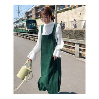 秋装女新款女装吊带裙子韩版针织中长款冬季chic背带裙