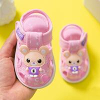 0一1-2-3岁婴儿凉鞋女夏季透气软底鞋6-12个月宝宝学步鞋