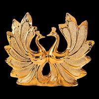 家居装饰品摆件镀金客厅创意摆设创意工艺品情侣结婚礼物孔雀开屏