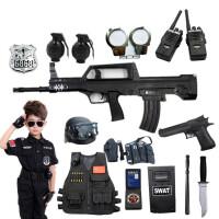 儿童电动玩具枪套装 小特警全套 吃鸡枪 cs警察装备男孩六一儿童节礼物