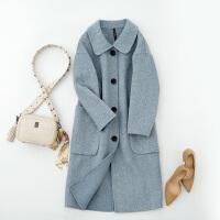 【1件3折到手价:219元】高梵新款毛呢大衣女中长款毛呢外套呢子大衣