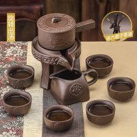 【新品热卖】自动时来运转功夫茶具小套家用石墨石磨懒人简易茶杯套装泡茶简约 八件套龙纹自动茶具 款式一 送六君子