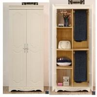对开两门衣柜80韩式小衣柜田园08米简欧式单人柜2门衣柜储物 2门 组装