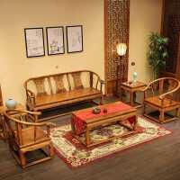 新中式实木沙发组合皇宫椅子五件套南榆木客厅明清小户型罗汉床塌
