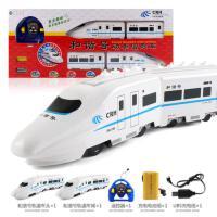 儿童玩具火车男孩轨道电动仿真遥控火车超大号动车高铁模型和谐号 82厘米长-仿真和谐号遥控火车
