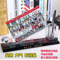 创意礼品 实用新奇学生同学聚会毕业纪念礼品水晶笔筒相框个性实用笔筒印照片刻字 图片色