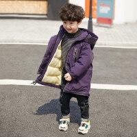 童装男童冬装棉衣2018新款儿童韩版棉服外套中长款宝宝加厚棉袄潮