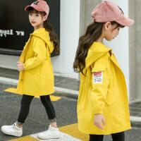 女童风衣外套休闲新款春秋装中大童女孩12洋气韩版13儿童15岁