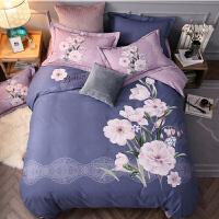 磨毛四件套全棉加厚双人纯棉床单被套1.5米2.0床上用品1.8m定制