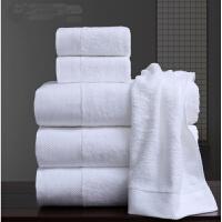纯棉加大加厚柔软吸水毛巾酒店客栈全棉情侣浴巾三件套装礼品 白色 3件套 140x70cm